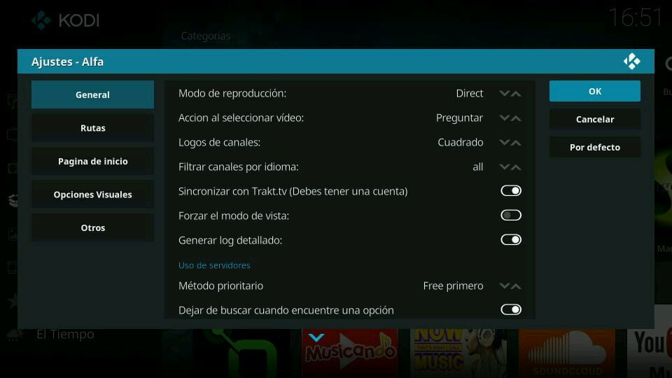 Trakt TV sincronizar con el addon alfa