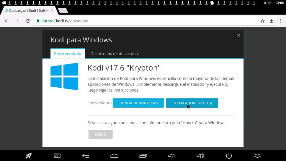 kodi windows instalar