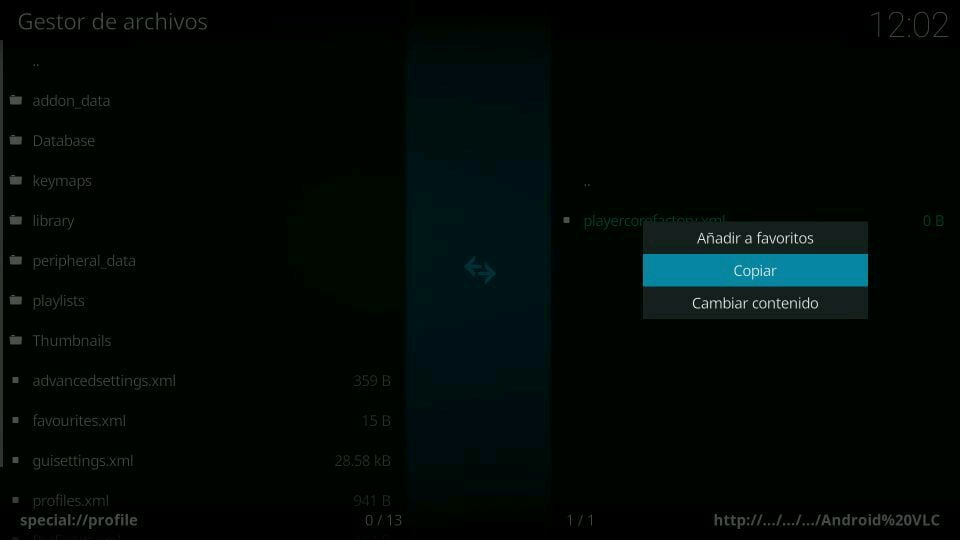 kodi playercodefactory directorio de perfil