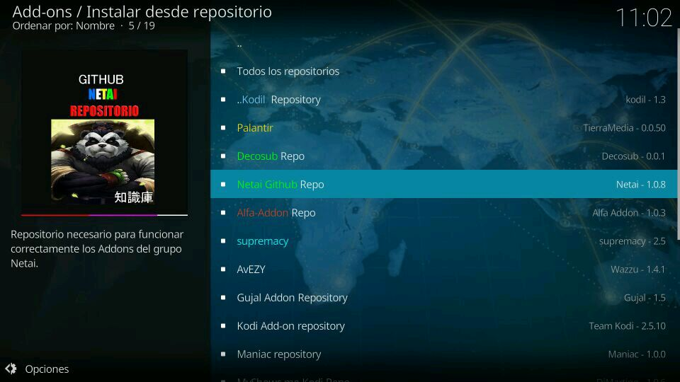 repositorio github netai kodi