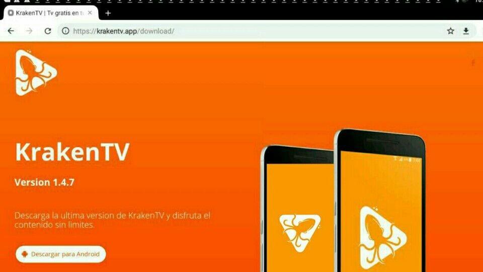 instalar kraken tv