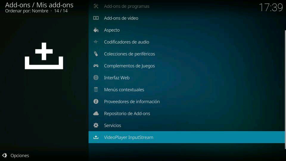 activar VideoPlayer InputStream