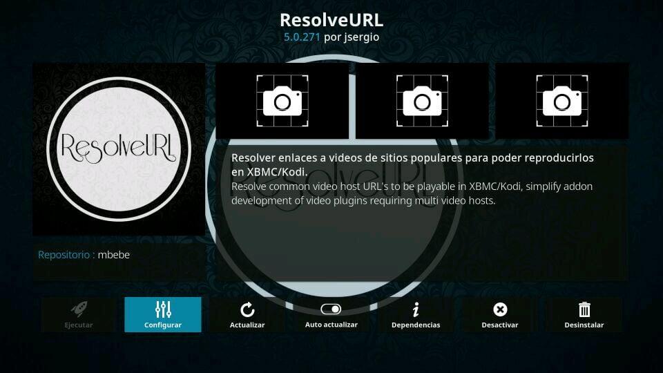 configurar resolveurl