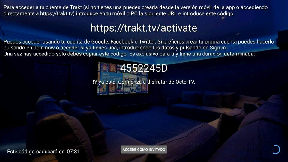 OctoStream sincroniza con trakt