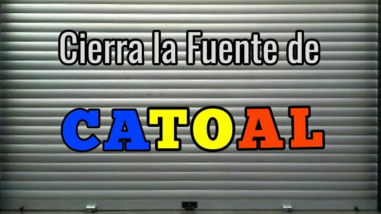 Fuente catoal cierra