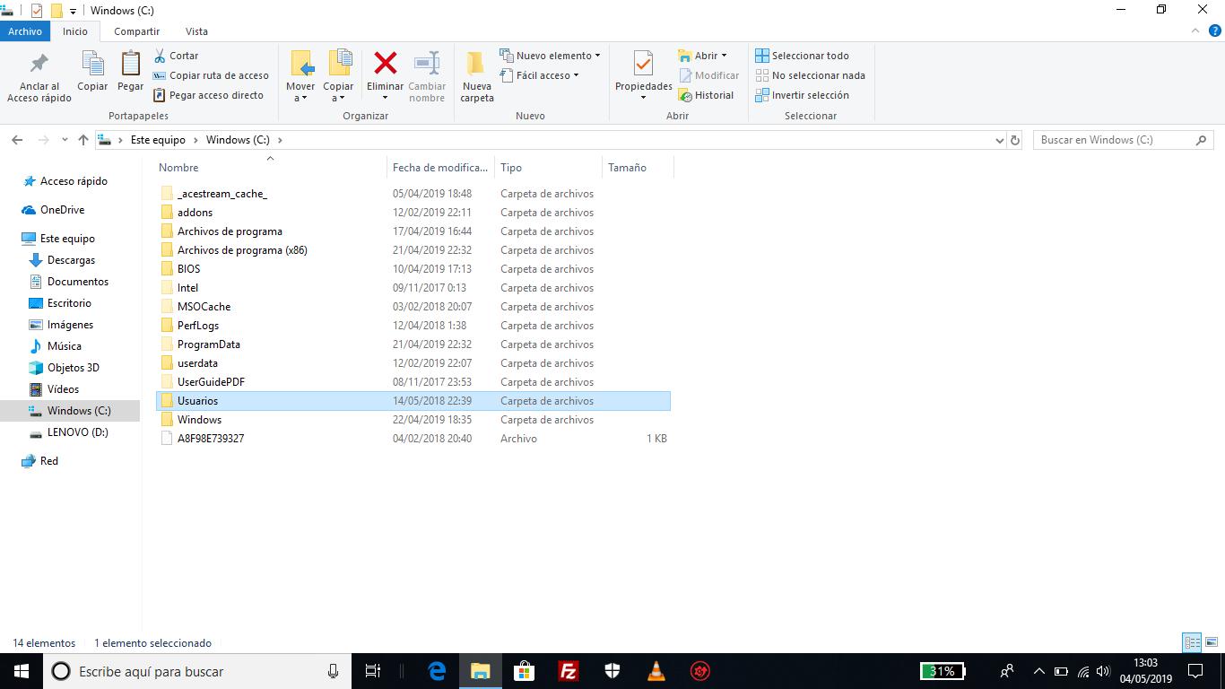 windows c usuarios