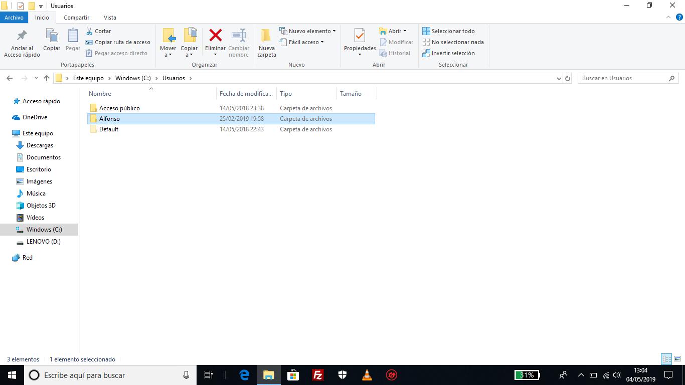 windows c tu usuario