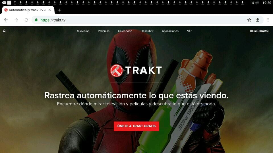Trakt TV página web