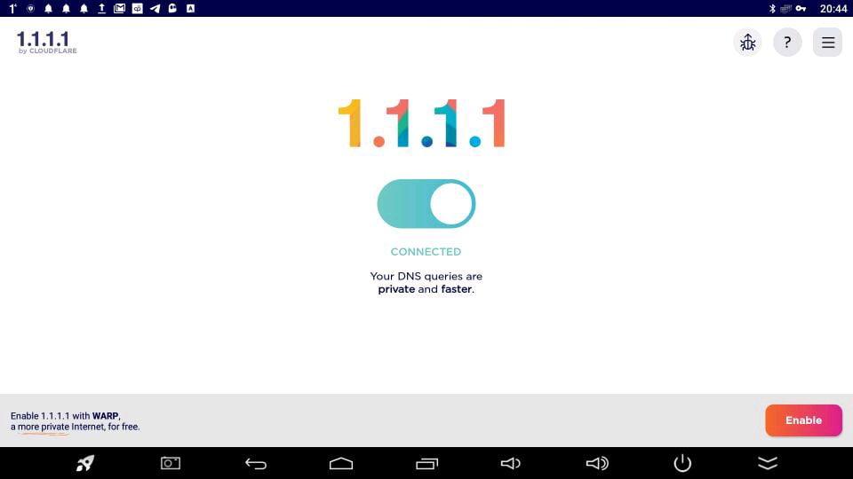 1.1.1.1 cambiar DNS en Android
