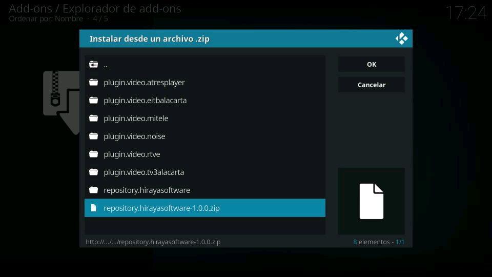 Addon MiTele fuente hirayasoftware