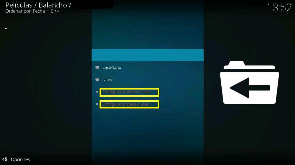Balandro configurar proxies y cambiar dominio en canales