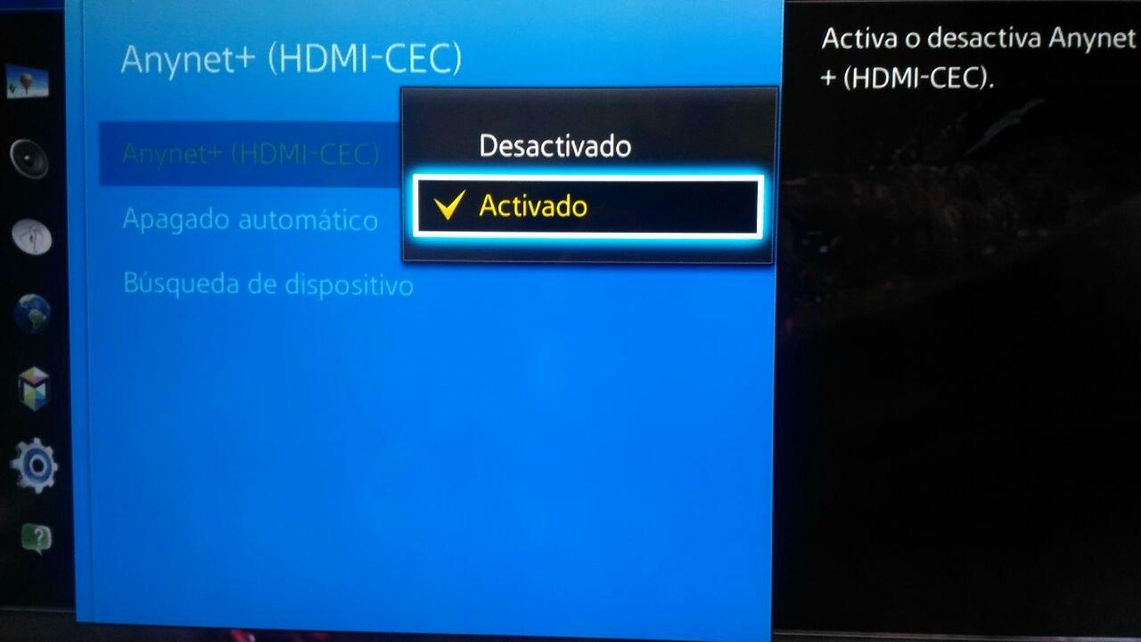 HDMI CEC smart TV se enciende solo el TV Box