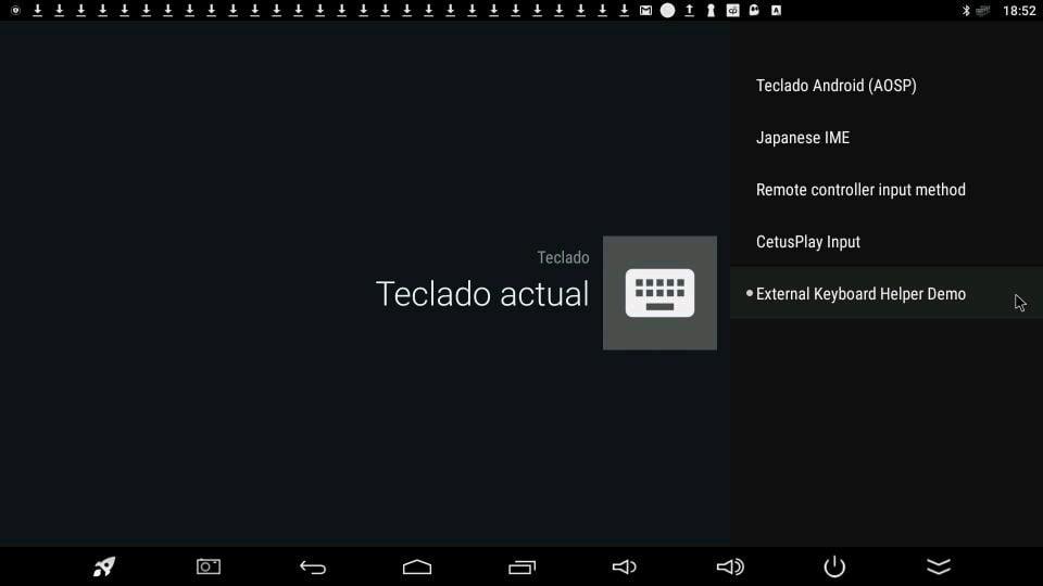 ajustes tv box external keyboard helper demo