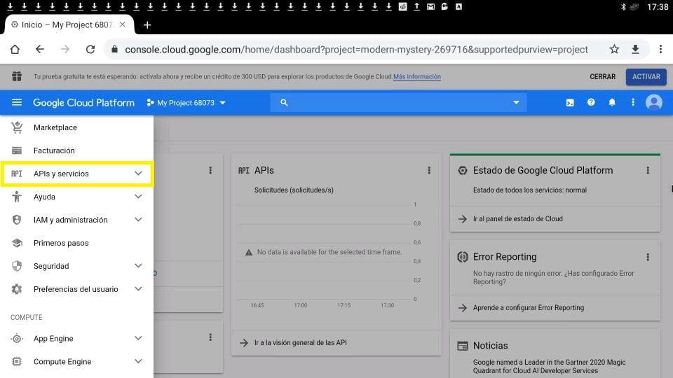 youtube APIs y servicios