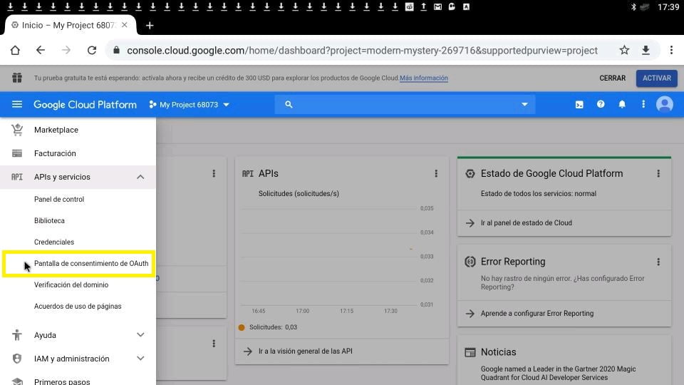 Youtube google pantalla de consentimiento