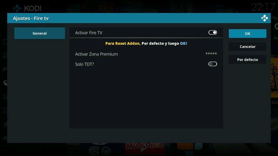 Fire TV ajustes