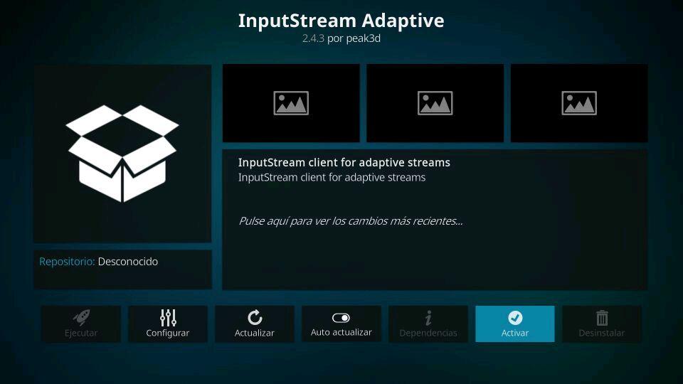 insput stream activar